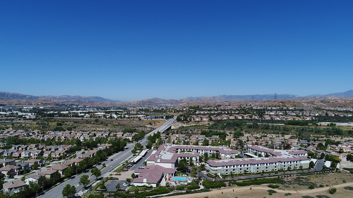 aerial drone photos of santa clarita